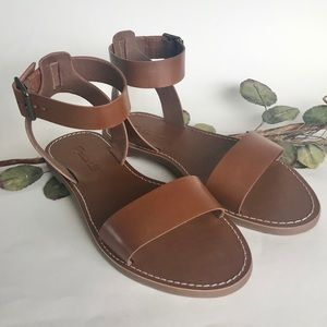 Madewell Women's Brown Leather Sandals NWBSize 7.5
